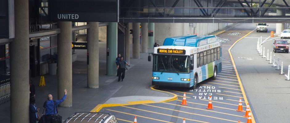 Aluguel carro aeroporto Seattle - ônibus da Rental Car Facility