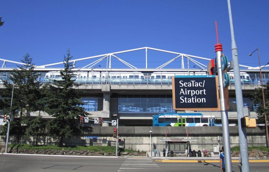Estação do metro aeroporto Seattle - LINK