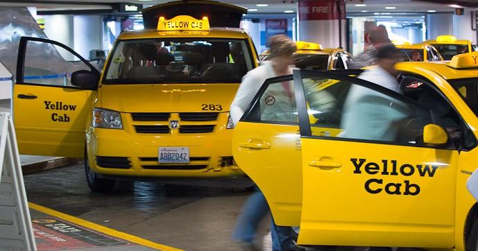 Ponto de táxi aeroporto Seattle – retirada do site Sea-Tac Airport