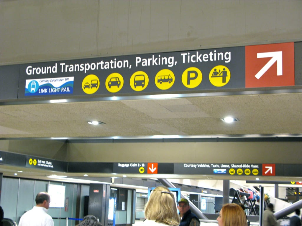 Ground Transportation no aeroporto de Seattle
