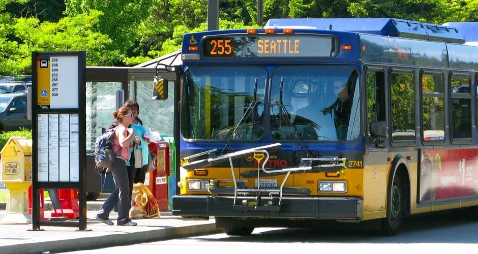 Parada de ônibus em Seattle