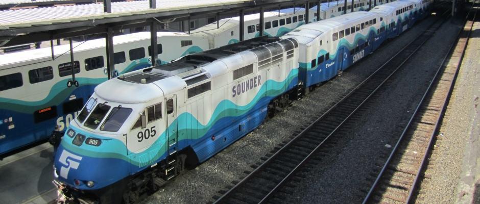 Trem em Seattle - Sounder Train