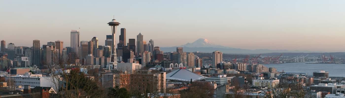 Panorâmica de Seattle com destaque do Space Needle