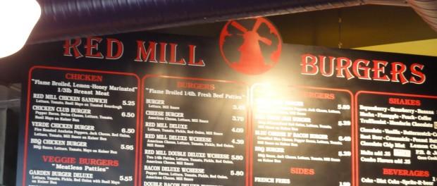 Red Mill Burguers Menu