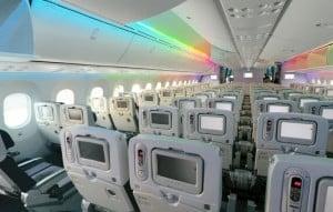 Cabine do Boeing 787