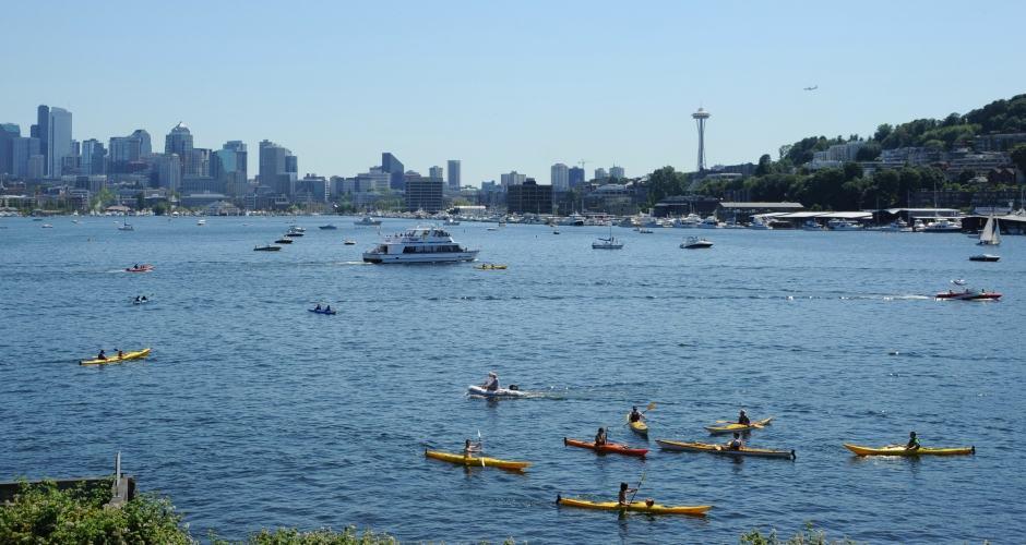 Seattle Cidade Esmeralda - Esporte aquático Union Lake
