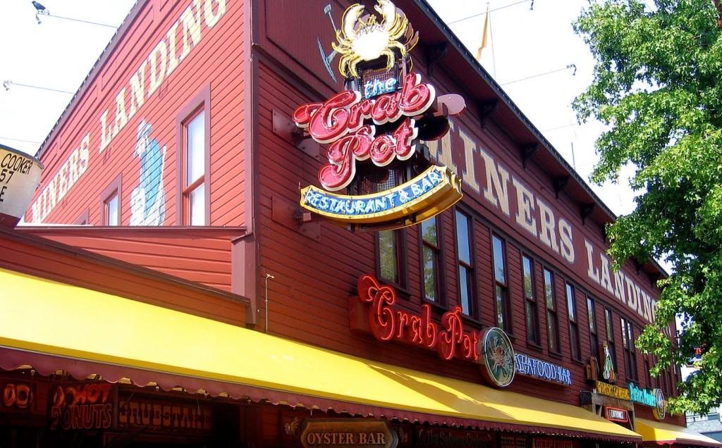 The Crab Pot - Fachada - onde você vai encontrar o caranguejo gigante em Seattle!