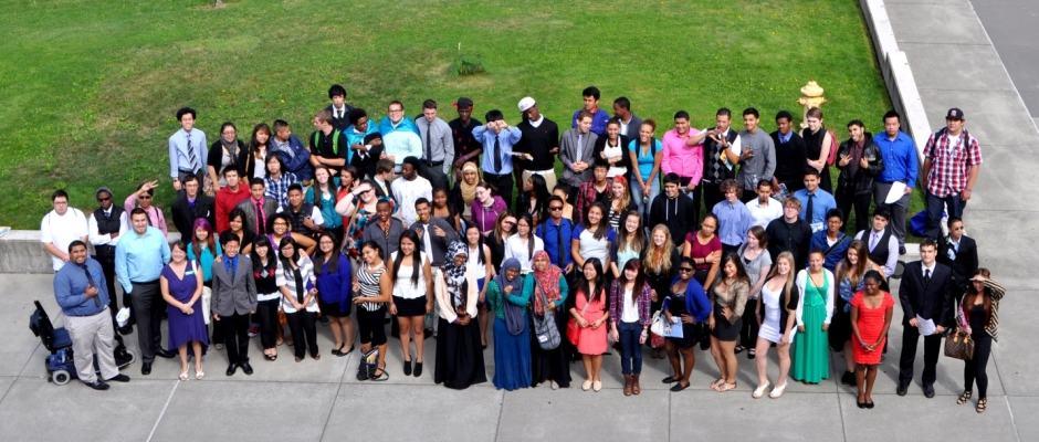 Estudar em Seattle: grupo de estudantes de idioma