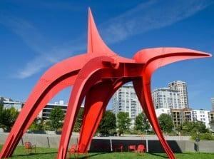 Olympic Sculpture Park: Escultura Eagle de Alexander Calder