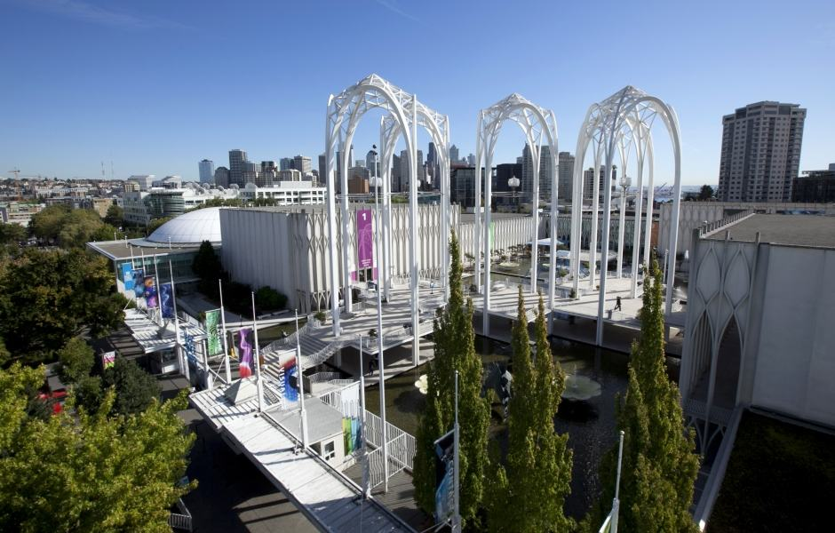 Complexo do Pacific Science Center no Seattle Center