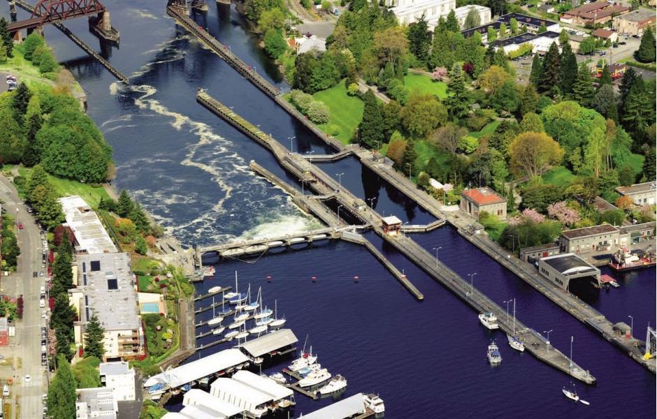 Canal de navegação para o Lago Washington e Ballard Locks