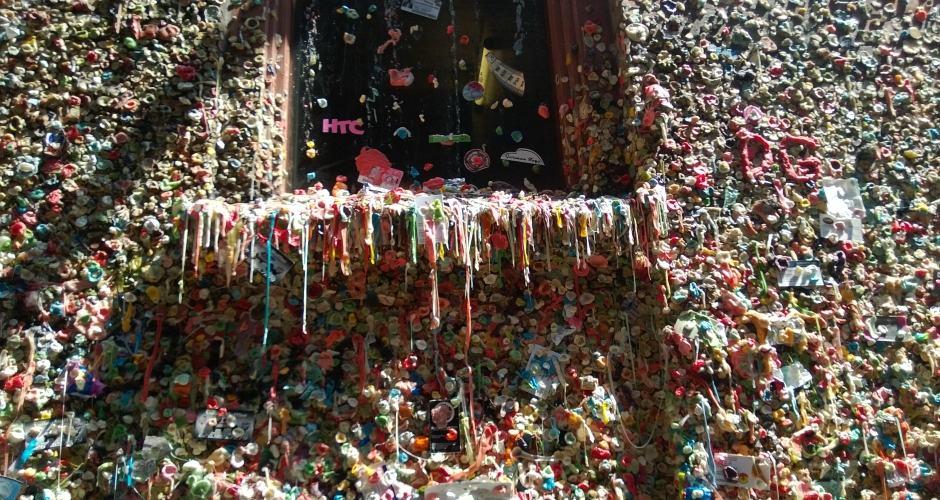 Gum Wall em Seattle