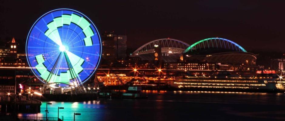Seattle Great Wheel: show de luzes