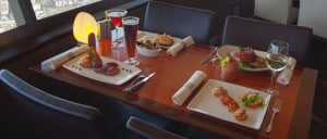 Pratos do menu SkyCity Seattle