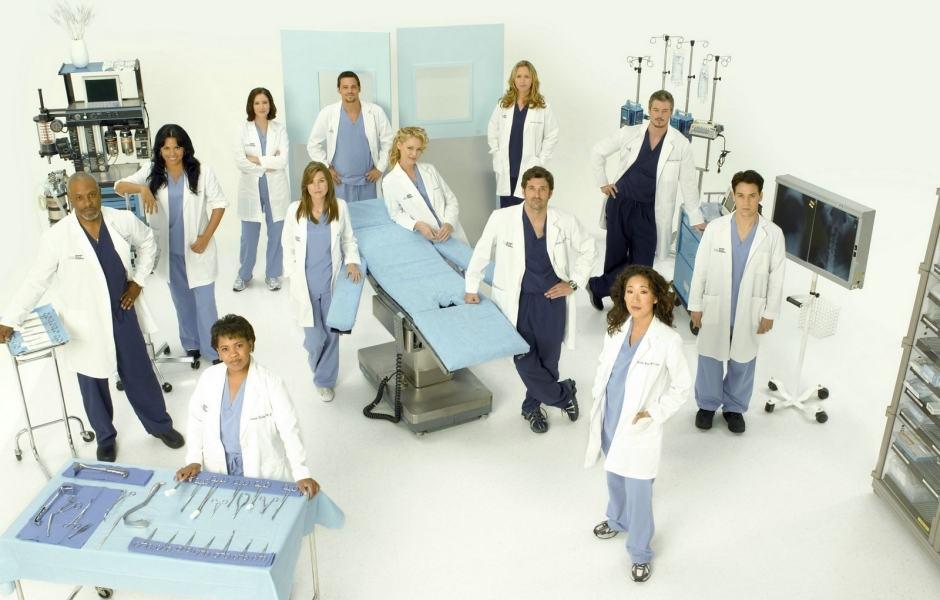 Grey's Anatomy: série do gênero drama médico com cenário principal um hospital