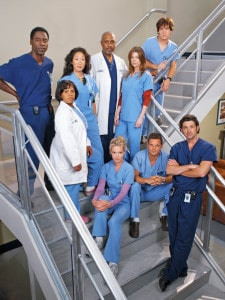 Grey's Anatomy: elenco do início da série