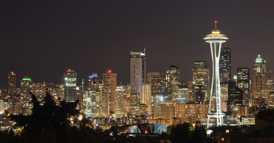 Grey's Anatomy: vista noturna de Seattle do Kerry Park