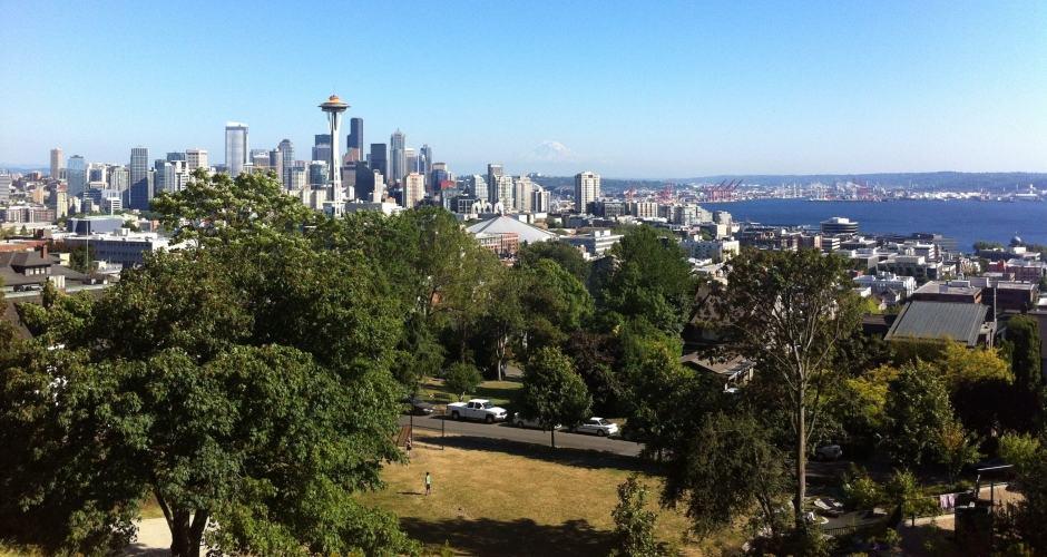Kerry Park: vista de dia de Seattle