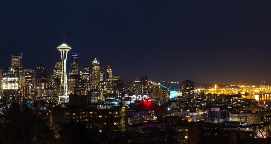 Kerry Park: vista de noite de Seattle (fonte: flickr)