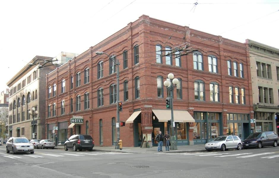 Prédio do Hotel Cadillac onde fica o Klondike Gold Rush National Historical Park de Seattle