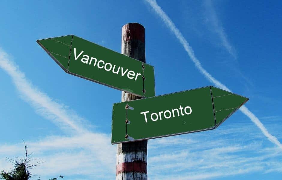 Viajar para Vancouver ou Toronto?