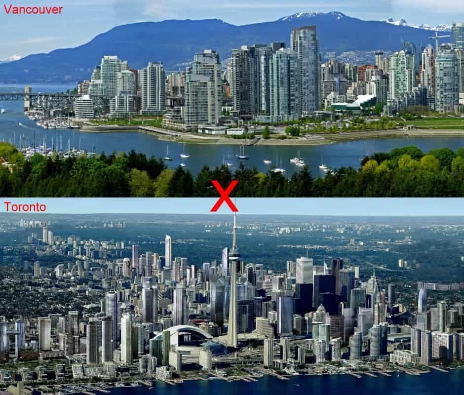 Viajar para Vancouver ou Toronto: as diferenças de estilo