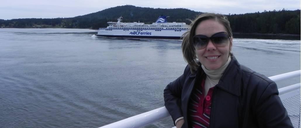 Trajeto de balsa da BC-Ferries para Victoria