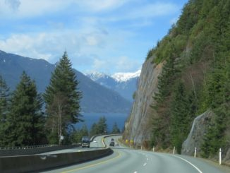 BC-99 no trecho Vancouver - Whistler: Sea to Sky Highway