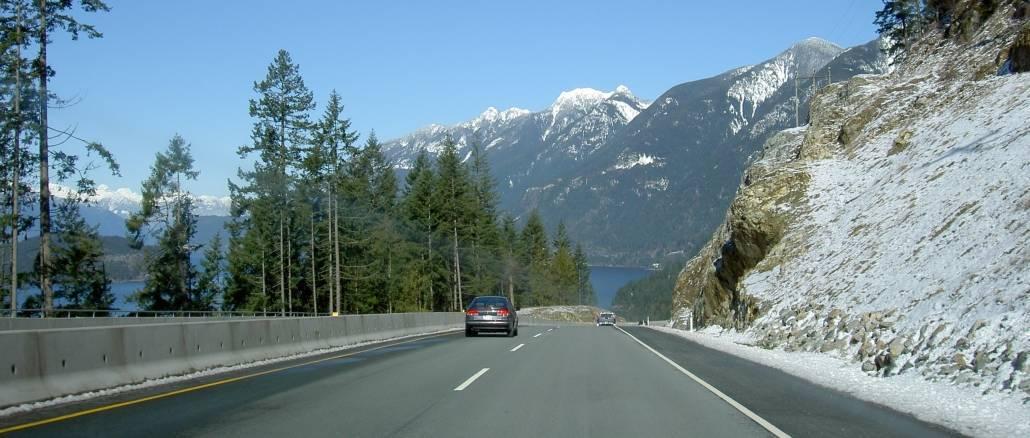 Costa oeste do Canadá: estrada BC-99 (British Columbia Highway 99)