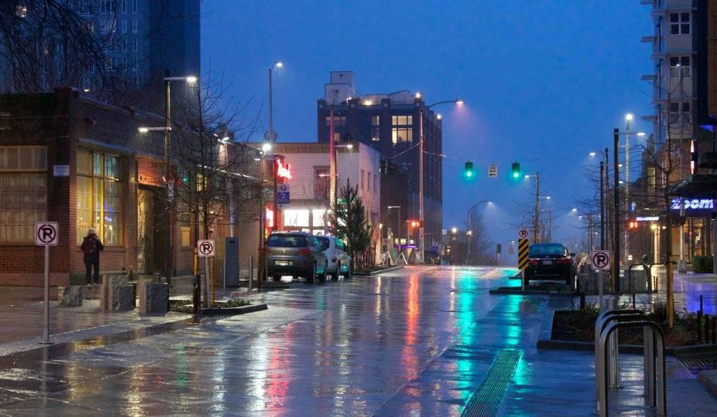Tempo em Seattle: chuva fina e constante nas ruas da cidade