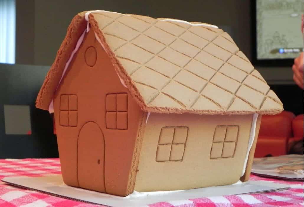 Gingerbread house do natal de 2013 em Seattle - ANTES da decoração