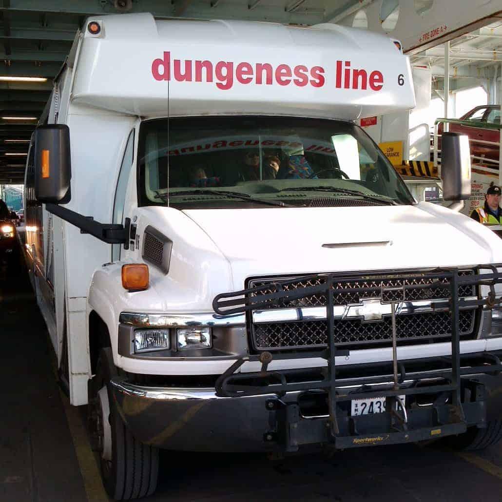 Como ir de Seattle para Victoria: ônibus da Dungeness line (foto: Claudia)