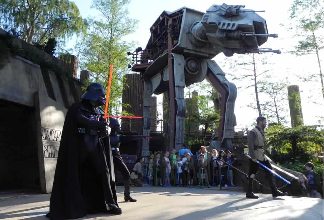 Treinamento Jedi no Hollywood Studios