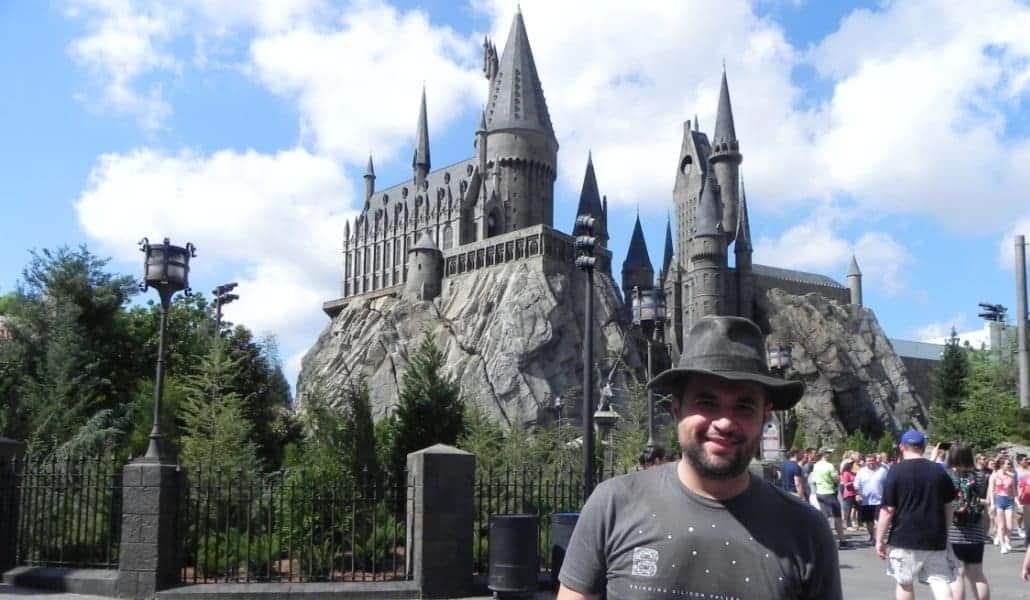 O castelo da escola do Harry Potter (Hogwarts) no Island of Adventure