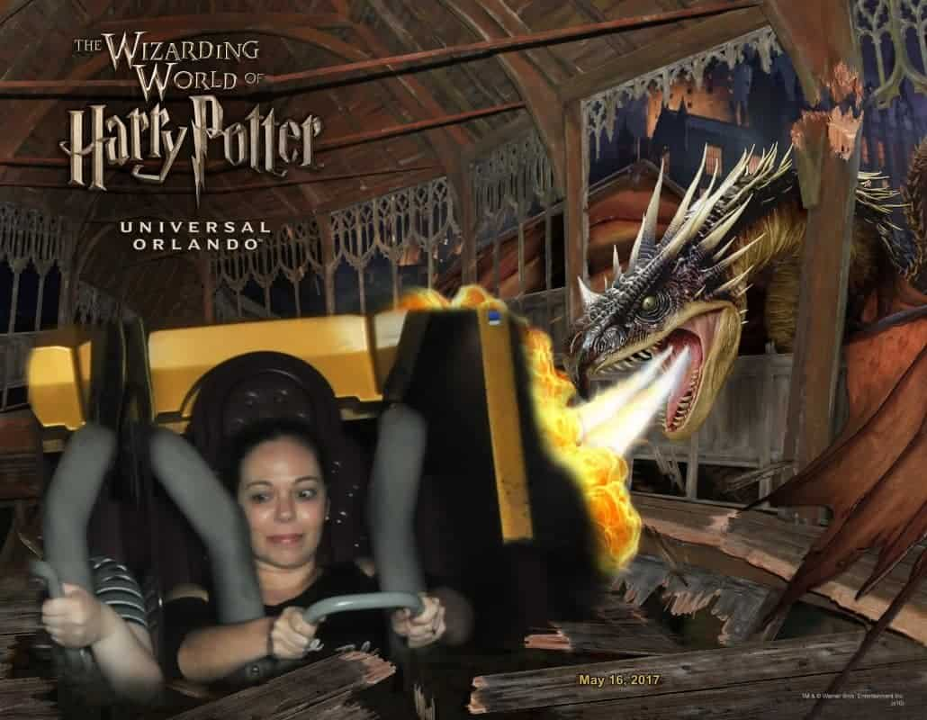 Harry Potter and the Forbidden Journey: olha a cara de pavor da pessoa!
