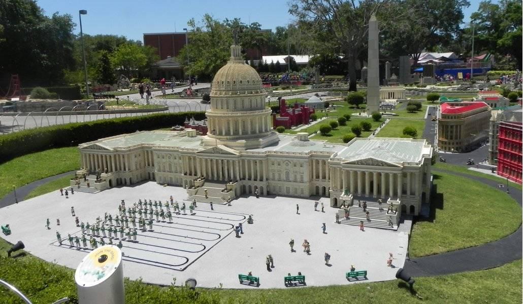 O Capitólio em Washington DC: exposição de lego na Miniland USA, Legoland - Orlando