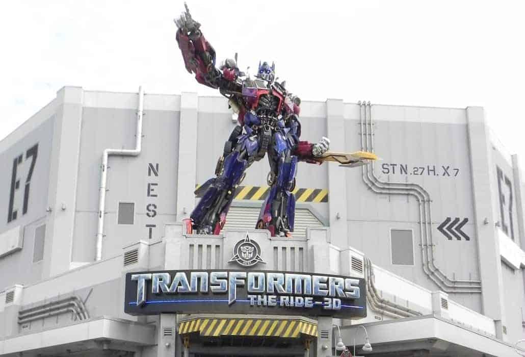 Entrada do simulador dos Transformers no Universal Studios