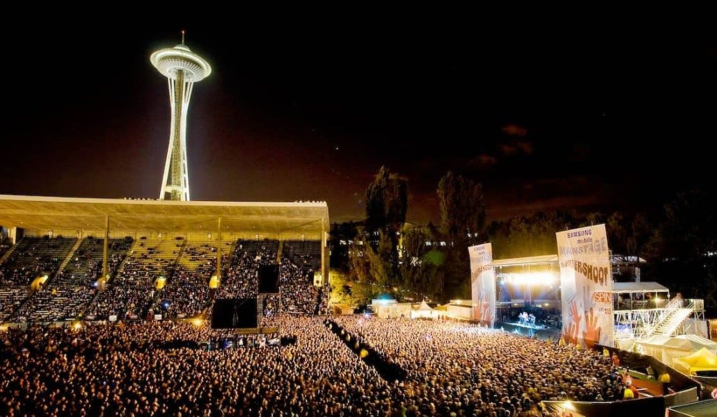Festival Bumbershoot no Seattle Center (fonte: blog do Space Needle)