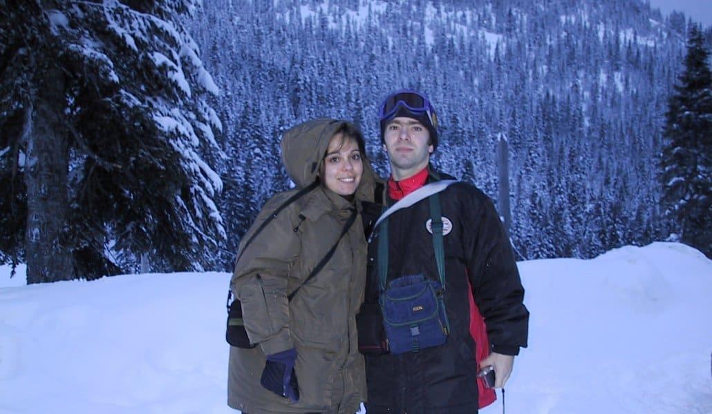 Eu e meu irmão no Stevens Pass - Seattle